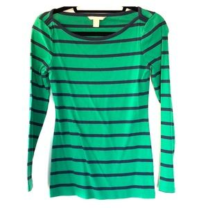 Striped long sleeve top from Banana Republic